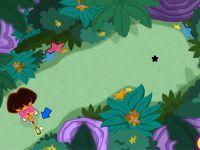 Dora beim Minigolf